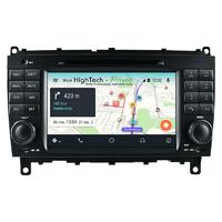 Autoradio Ecran tactile avec Navigation GPS Wifi Android 9.0 Mercedes CLK de 2004 à 2009