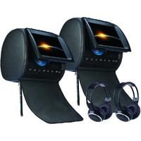 Paire d'appui tête avec écran tactile 22cm, Lecteur CD/DVD et USB/SD
