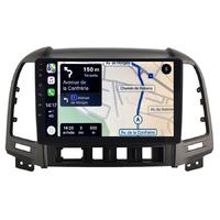 Autoradio tactile GPS Android 10.0 et Apple Carplay sans fil Hyundai Santa Fe de 2006 à 2012