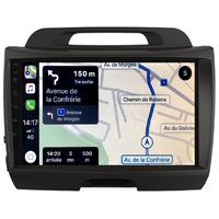 Autoradio tactile GPS Android 10.0 et Apple Carplay sans fil Kia Sportage de 2010 à 2014