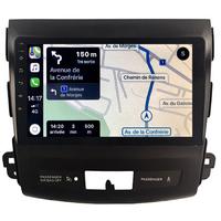 Autoradio tactile GPS Android 10.0 et Apple Carplay sans fil Peugeot 4007
