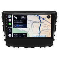 Autoradio tactile GPS Android 10.0 et Apple Carplay sans fil Ssangyong Rexton et Musso depuis 2017