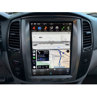 Ecran Tesla Style GPS Android 8.1 et Apple Carplay Toyota Land Cruiser 100 de 2003 à 2007
