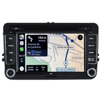 Autoradio tactile GPS Android 10.0 et Apple Carplay Volkswagen Amarok Coccinelle Sharan Transporter Polo Caddy Eos Golf Scirocco Passat Tiguan et Touran