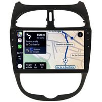 Autoradio tactile Android 10.0, Bluetooth et GPS Peugeot 206