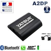 Kit Mains libres Bluetooth téléphonie & streaming audio pour BMW Connecteur 40pin - Série 3 E46, Série 5 E39, X3 E83, X5 E53, BMW Z4 & Z8, Compact
