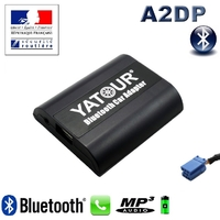 Kit Mains libres Bluetooth téléphonie & streaming audio pour Renault (8pin) - Clio, Kangoo, Megane, Scenic, Laguna, Espace, Trafic, Twingo, Modus...