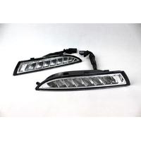 Feux de jour à 8 LEDs (DRL) pour Volkswagen Scirocco de 2010 à 2013