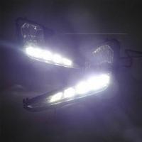 Feux de jour à 15 LEDs (DRL) pour Kia Rio de 2011 à 2014