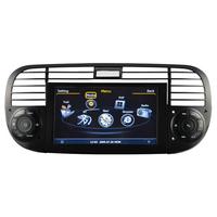 Autoradio GPS Fiat 500 façade noire