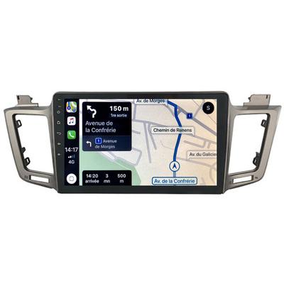 Autoradio GPS à écran tactile QLED Android 10.0 et Apple Carplay sans fil Toyota RAV4 de 2013 à 2018