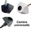Caméra de recul CCD universelle filetée - Couleur noire, blanche ou argentée