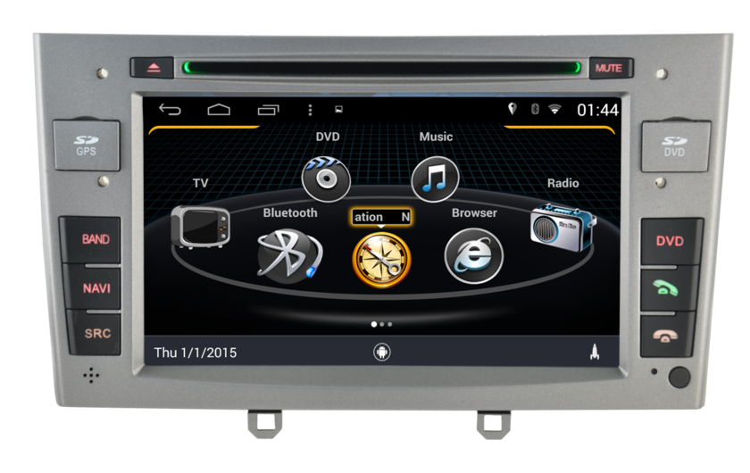 autoradio android 4 4 4 gps peugeot 308 hightech. Black Bedroom Furniture Sets. Home Design Ideas