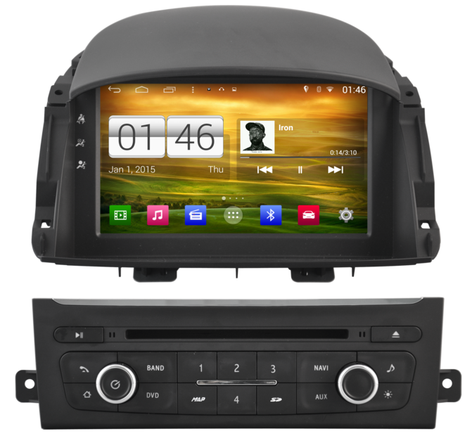 autoradio android 4 4 4 gps renault koleos cran tactile dvd usb hightech. Black Bedroom Furniture Sets. Home Design Ideas
