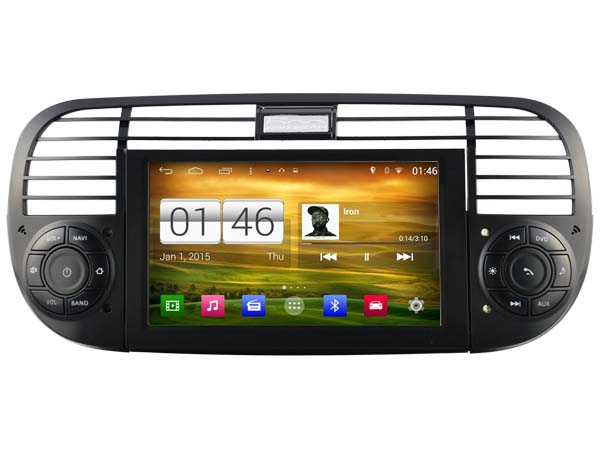 autoradio gps fiat 500 ecran tactile android 4 4 4 wifi dvd hightech privee. Black Bedroom Furniture Sets. Home Design Ideas
