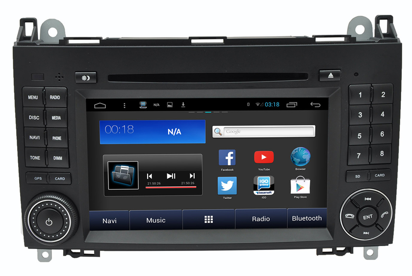autoradio android 4 4 4 gps dvd cran tactile mercedes classe a hightech privee. Black Bedroom Furniture Sets. Home Design Ideas