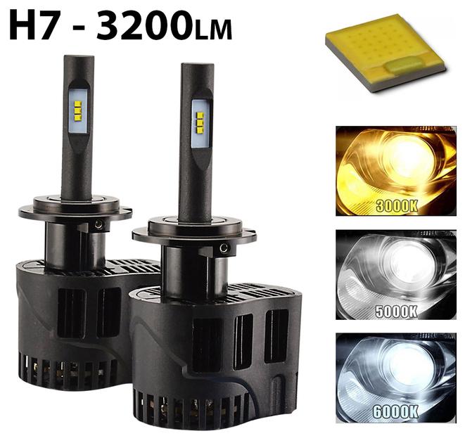 30w H7 Puissance 2 Leds Ampoules X 3200 Lumens hdsrtQCx