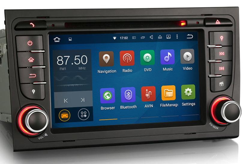 autoradio gps waze android 7 1 tactile audi a4 payez en. Black Bedroom Furniture Sets. Home Design Ideas