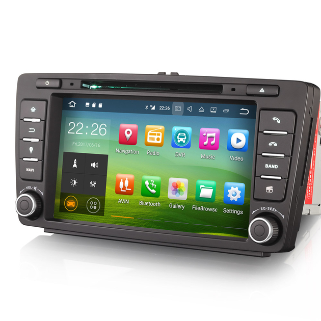 autoradio android 7 1 wifi gps skoda octavia yeti hightech. Black Bedroom Furniture Sets. Home Design Ideas