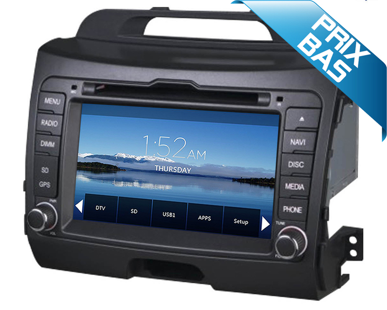 autoradio gps kia sportage de 2010 2013 ecran tactile dvd hightech. Black Bedroom Furniture Sets. Home Design Ideas