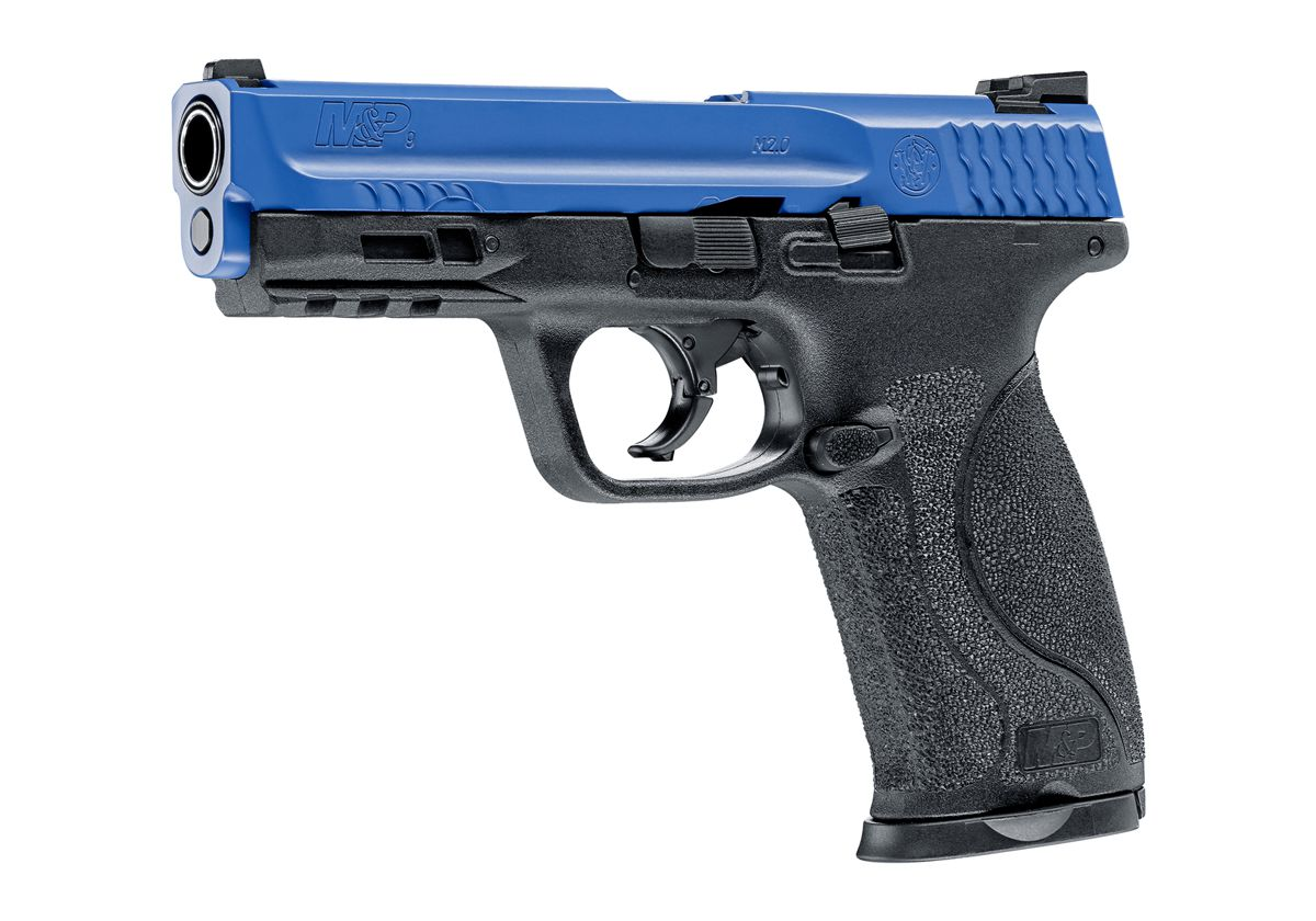 Pistolet d\'entrainement SMITH & WESSON M&P9 M2.0 CAL 0.43 CO2 BLACK BLUE 8 COUPS