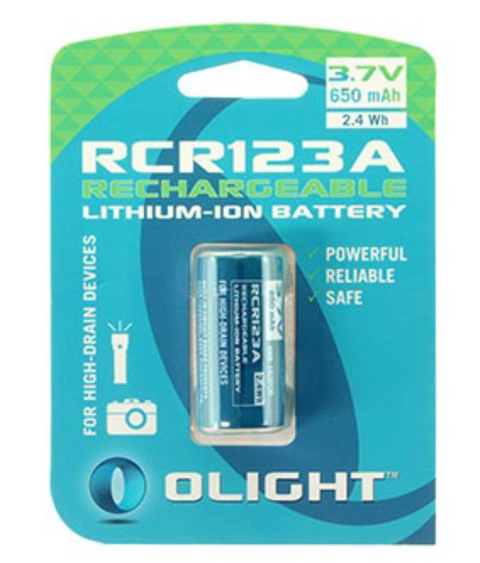 Olight RCR123A battery 3.7V 650mAh Rechargeable 1