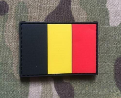 Belgium Flag Rubber Patch1