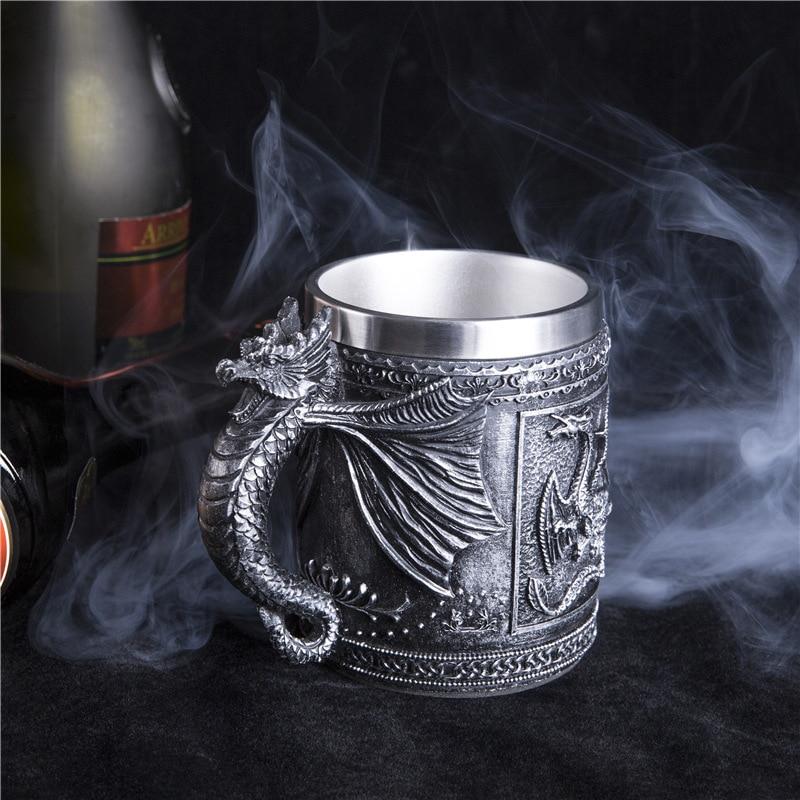 R-tro-Dragon-r-sine-acier-inoxydable-bi-re-tasse-cr-ne-chevalier-Tankard-Halloween-tasse