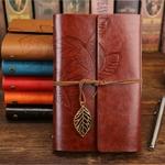 Vintage-cahier-Journal-bloc-notes-en-cuir-PU-spirale-litt-rature-carnet-de-notes-papier-rempla
