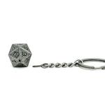 Porte-clés D20 en métal