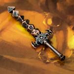 collier Pendentif épée set de Dés en métal