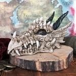 Crane de dragon cache à trésor tirelire
