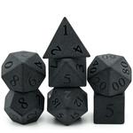 Set de dés de jdr en obsidienne