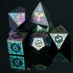 Set de dés de jdr en obsidienne - couleur chromatique