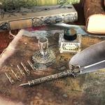 Kit de calligraphie et sceau de cire