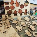 Figurines de Jeu de rôle en bois
