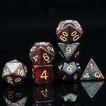 Set de dés de jeu de rôle nébuleuse rouge