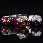 Set de dés de jeu de rôle nébuleuse violet