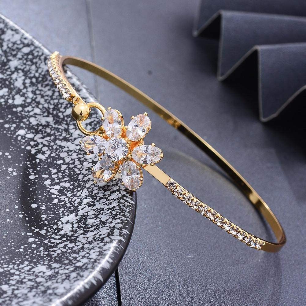 Bracelet jonc plaqué or classique