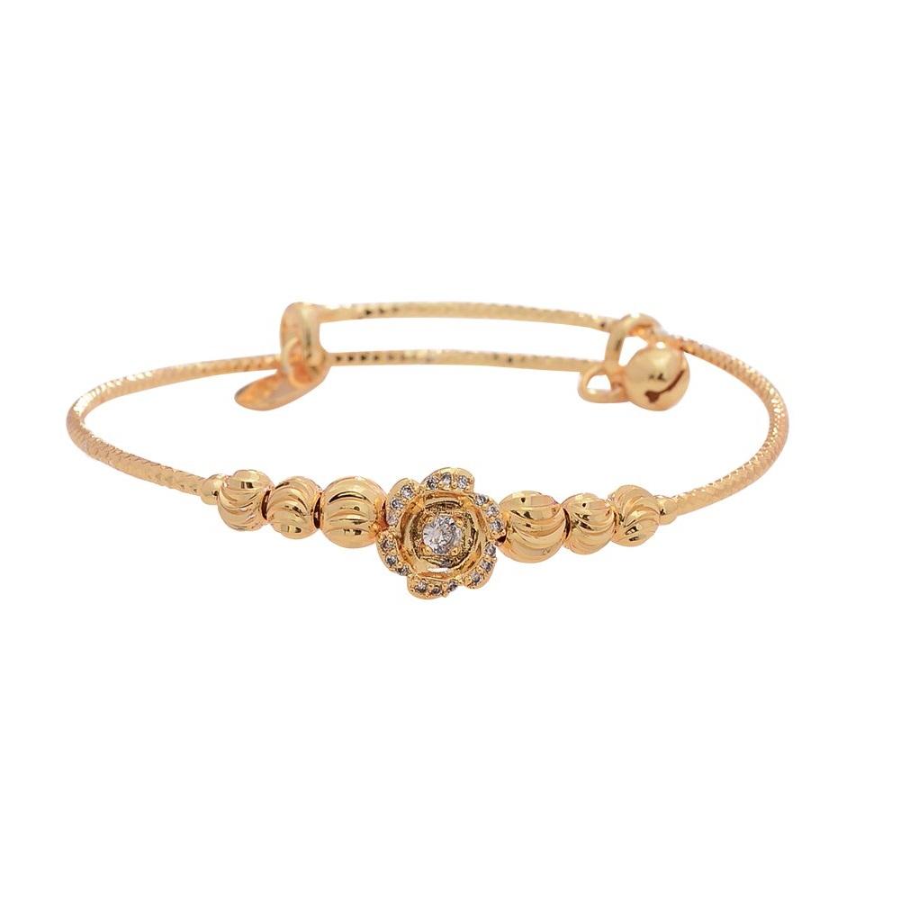 Bracelet jonc ajustable plaqué or