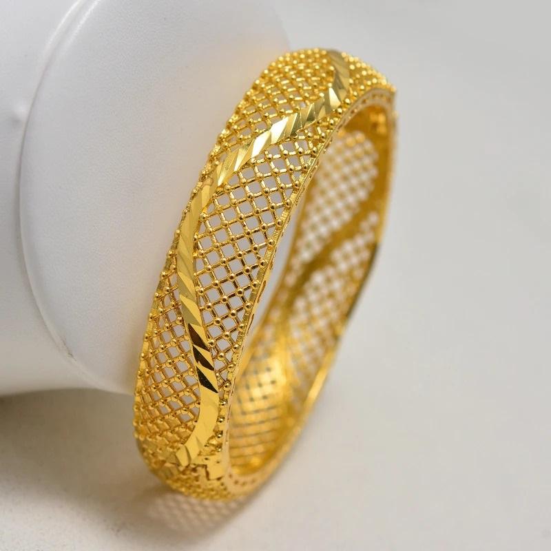 Bracelet jonc ouvrant plaqué or