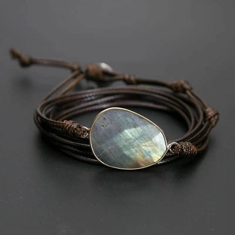 Bracelet enroulé pierre de lune naturelle