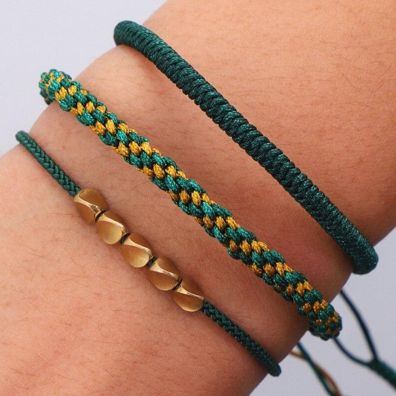 bracelet fin tressé