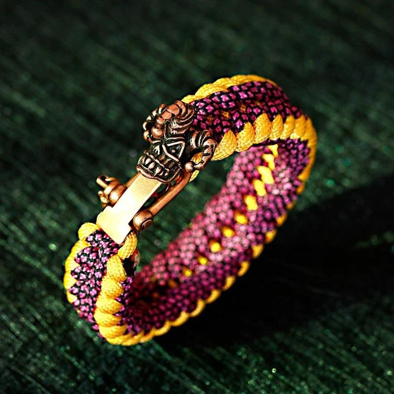 Bracelet vintage tête samouraï
