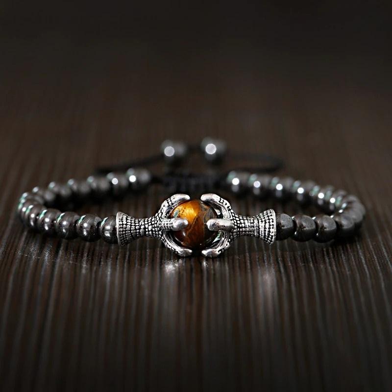 Bracelet avec pierre oeil de tigre chakras