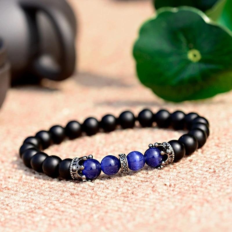 Bracelet king avec pierres naturelles