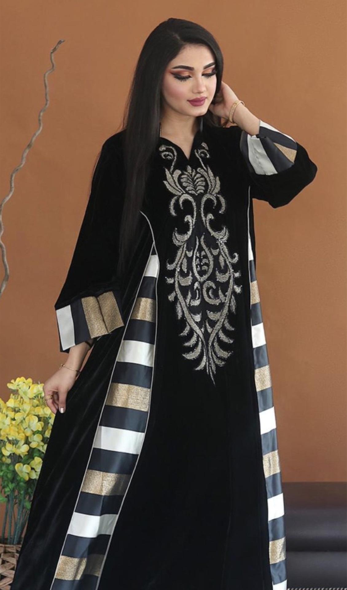 Robe en velours longue