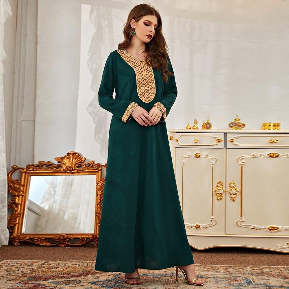 Robe verte femme