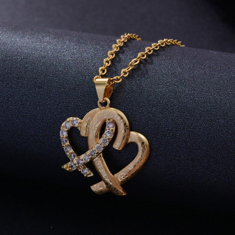 Collier forme de cœurs union