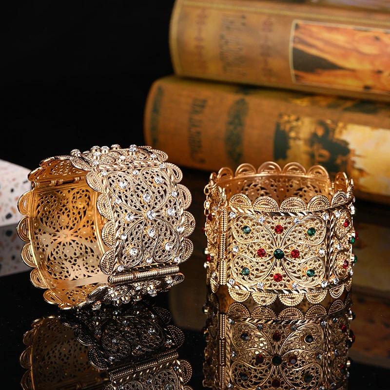 Bracelet manchette marocain avec strass